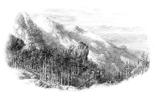 the other side of the Misty Mountains