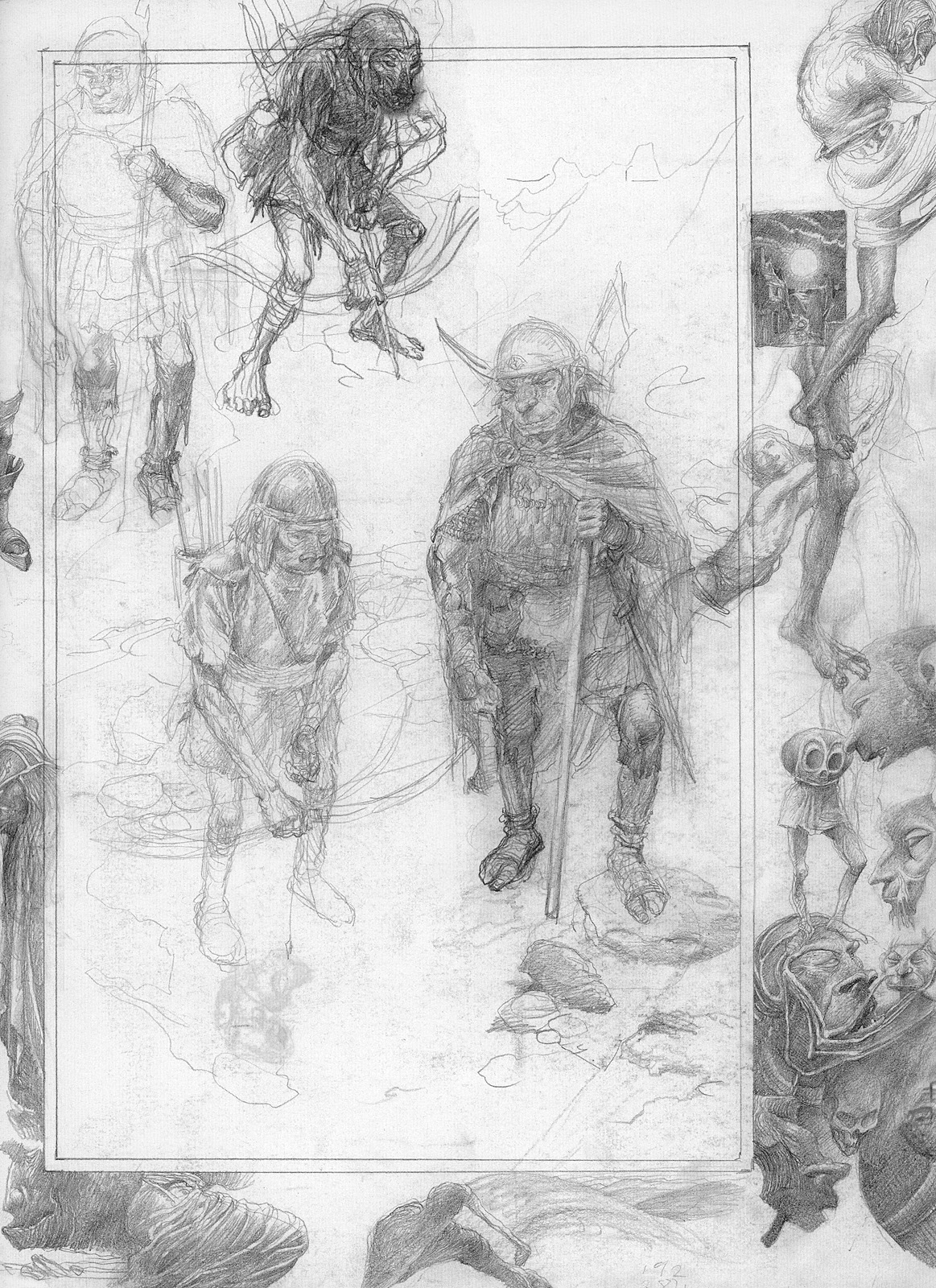 Alan Lee The Lord Of Rings Sketchbook 18 Cirith Ungol08