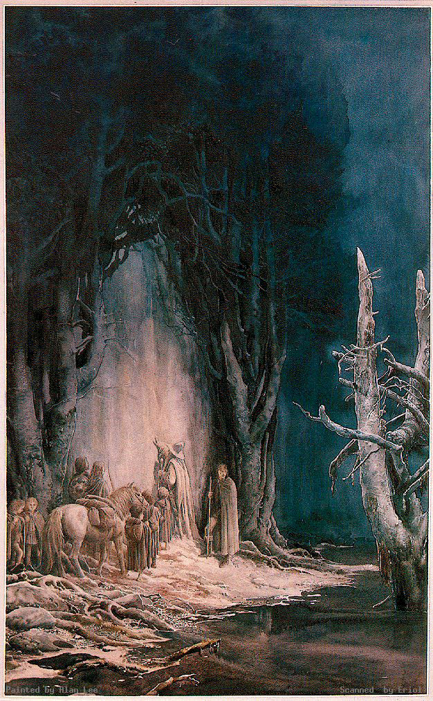 the fellowship at the gates of moria