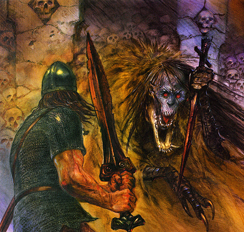 an analysis of the first battle of beowulf Analysis of beowulf beowulf was first told in anglo-saxon england sometime between the 8th and 11th centuries if anything screams climactic battle scene.