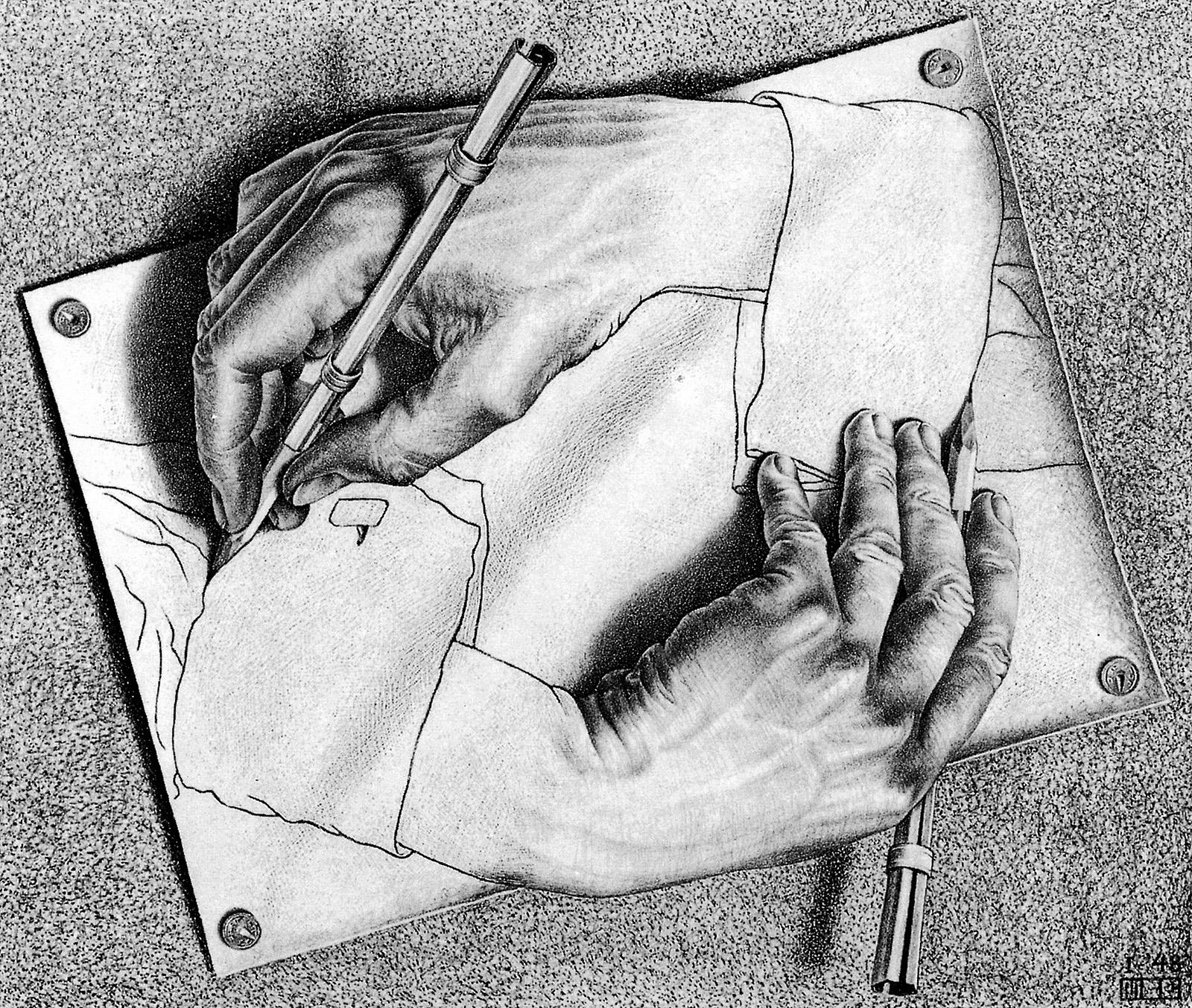 M c escher drawing hands artists that inspire for Mc escher gallery